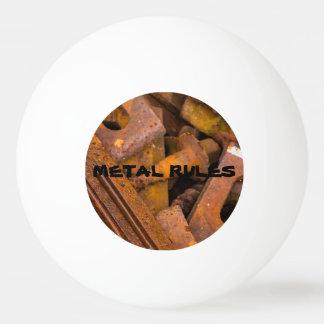 METAL RULES PING PONG BALL