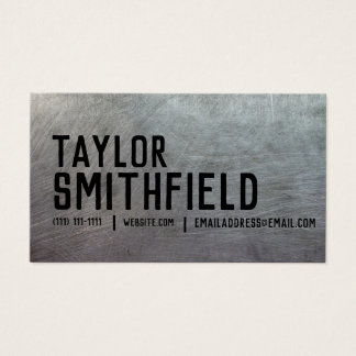 metal rustic vintage industrial business card