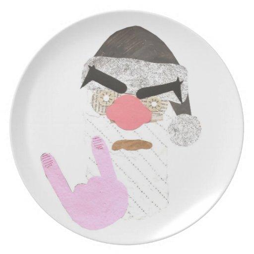 Metal Santa Plate