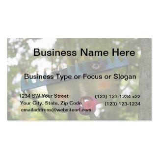 metal sculpture garden face on rake neat design business cards