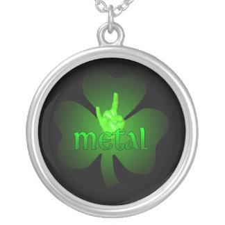 Metal Shamrock Necklace