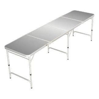 Metal Silver Look Beer Pong Table