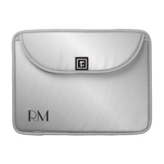 Metal Silver Look Monogram Sleeve For MacBook Pro
