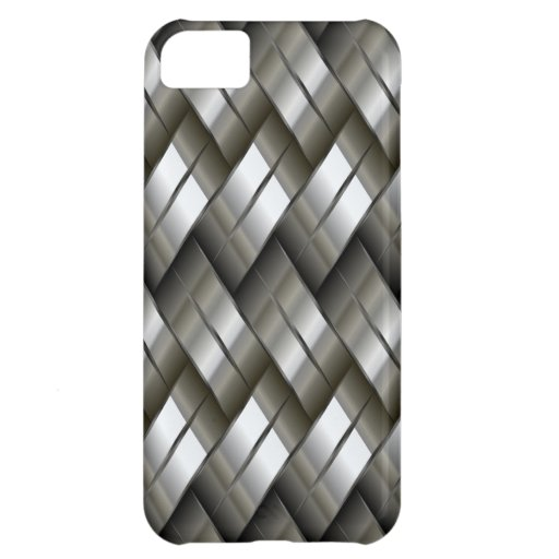 Metal Silver Pattern Case For iPhone 5C