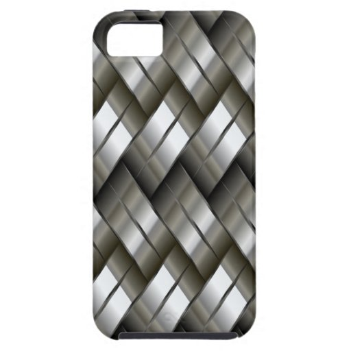Metal Silver Pattern iPhone 5 Case