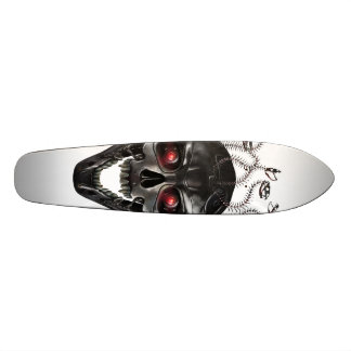 Metal Skull of Medusa Custom Skateboard