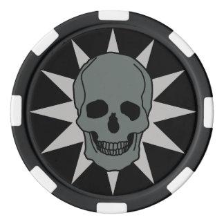 Metal Skull Poker Chips