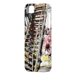 metal staircase with graffiti wall iPhone 5 cases