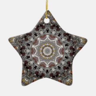 Metal Star Kaleidoscope Christmas Ornament