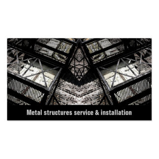 metal structures service and installation business business card