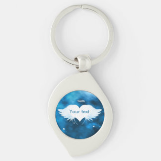 Metal Swirl Keychain - Angel of the Heart Silver-Colored Swirl Key Ring