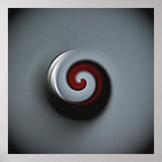 metal swirl poster