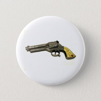 Metal Toy Gun 6 Cm Round Badge