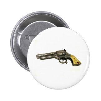 Metal Toy Gun 6 Cm Round Badge