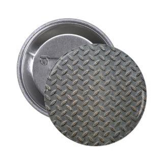 Metal Tread Texture 6 Cm Round Badge
