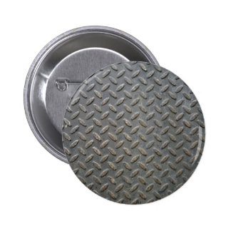 Metal Tread Texture Pinback Button