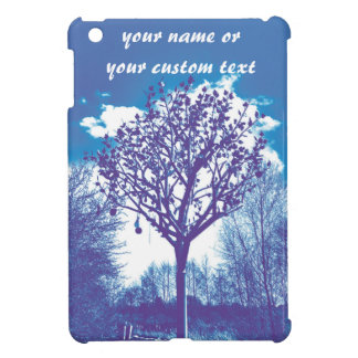 metal tree dull blue iPad mini case