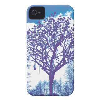 metal tree dull blue iPhone 4 cover
