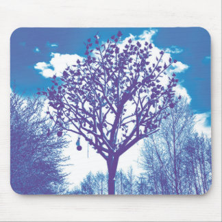 metal tree dull blue mouse pad