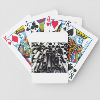 metal tube ends bicycle playing cards