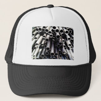 metal tube ends trucker hat