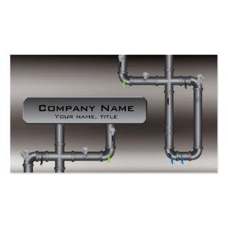 Metal Tubing Design Plumber Profile Card Business Card Template