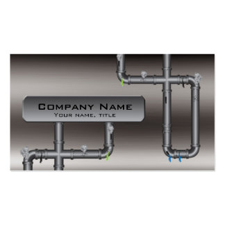 Metal Tubing Design Plumber Profile Card Pack Of Standard Business Cards