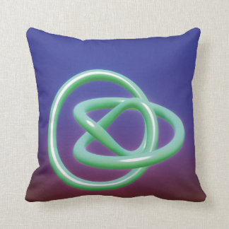 Metal Twist Blue Green Throw Pillow