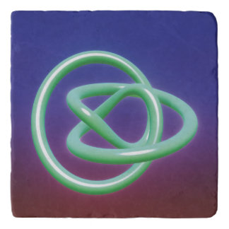 Metal Twist Blue Green Trivets