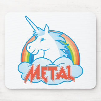 metal-unicorn mouse pad
