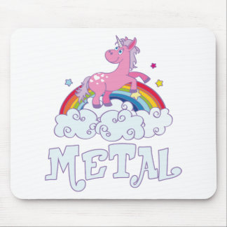 Metal Unicorn Mouse Pad