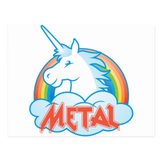 metal-unicorn postcard