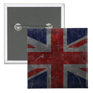 Metal Vintage Union Jack Flag 15 Cm Square Badge