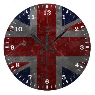 Metal Vintage Union Jack Flag Large Clock