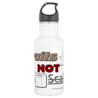 "Metal Water bottle ""Trails NOT Scales"""