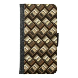 Metal weave golden basketwork samsung galaxy s6 wallet case