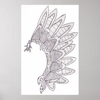 Metal Wing Print