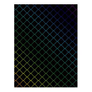 metal wire background postcard
