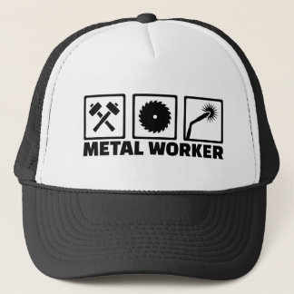 Metal worker trucker hat