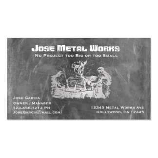 Metal Workers Pack Of Standard Business Cards