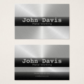 Metal Working business card