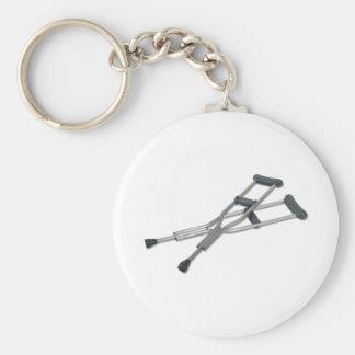 MetalCrutches082010 Basic Round Button Key Ring