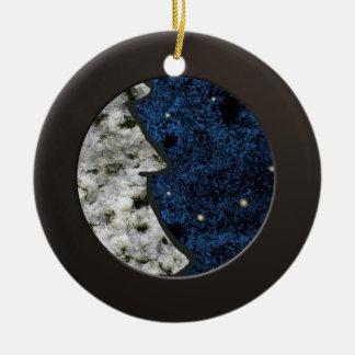 Metalic Black Circle and Coloured Granite Ceramic Ornament