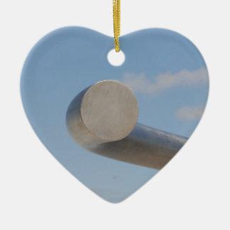 Metalic Blue Skies Ceramic Heart Decoration
