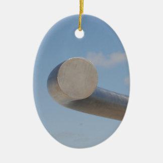 Metalic Blue Skies Ceramic Oval Decoration