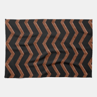 Metalic Bronze Zig Zag Pattern Tea Towel