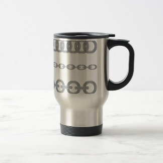 metalic  chain travel mug