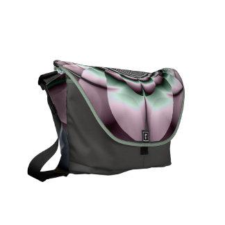 Metalic Fractal Flower Rickshaw Messenger Bag