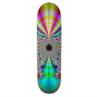 Metalic Look Fractal Design 18.1 Cm Old School Skateboard Deck