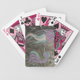 Metalic seahorses bicycle playing cards